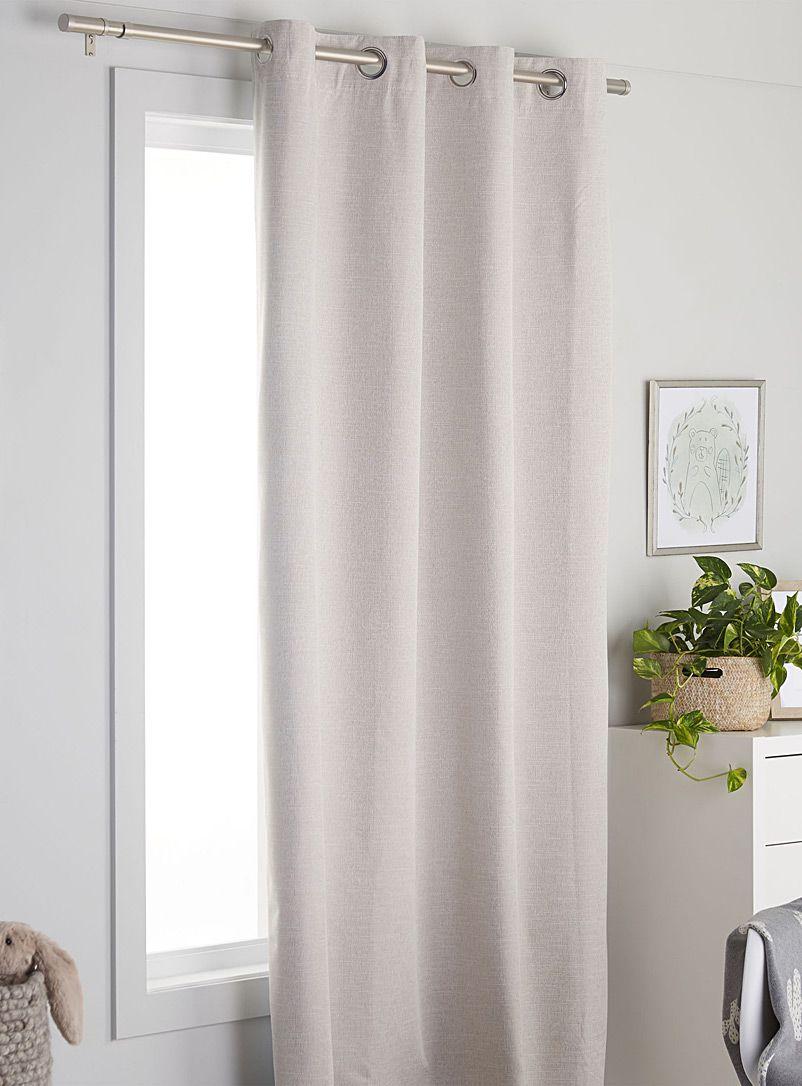 Natural Tone Blackout Curtain 140 X 220 Cm Blackout Curtains