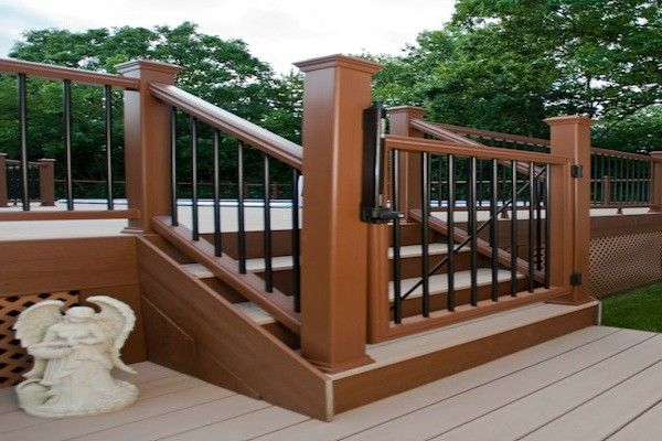 Trex Pool Deck Self Closing Gate In Mchenry County Built