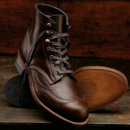 3b3be7a7b48 Wolverine Men s ADDISON 1000 Mile Wingtip Leather Ankle Boot BROWN   eBayCollection  FollowItFindIt