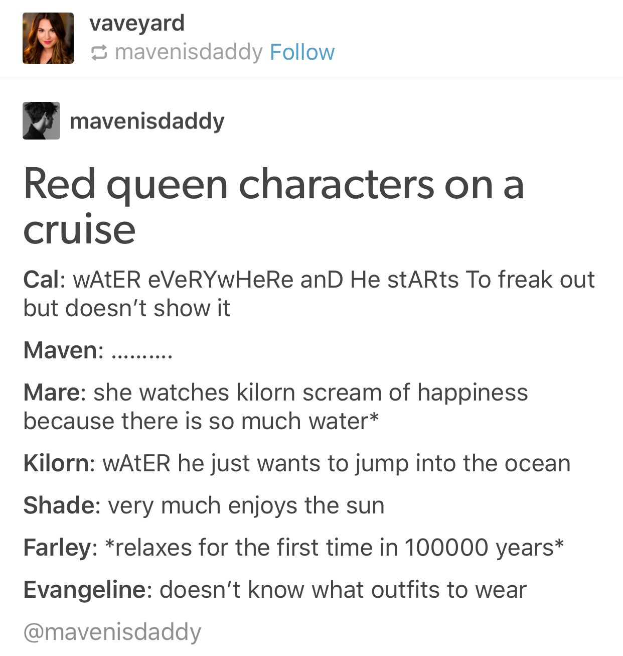 And Elane Is Glowing More Than Normal Red Queen Pinterest