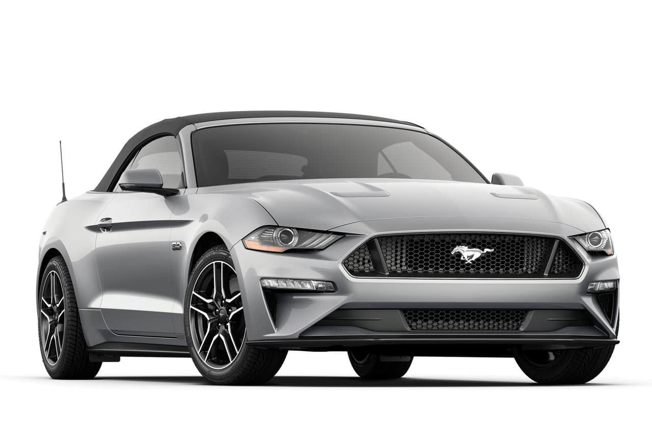 2019 Ford Mustang G T Premium Convertible In Ingot Silver Ford