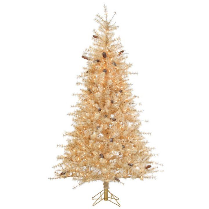 Frosted Slim Christmas Tree: 7' Buttercream Frosted Slim Christmas Tree Detail 1