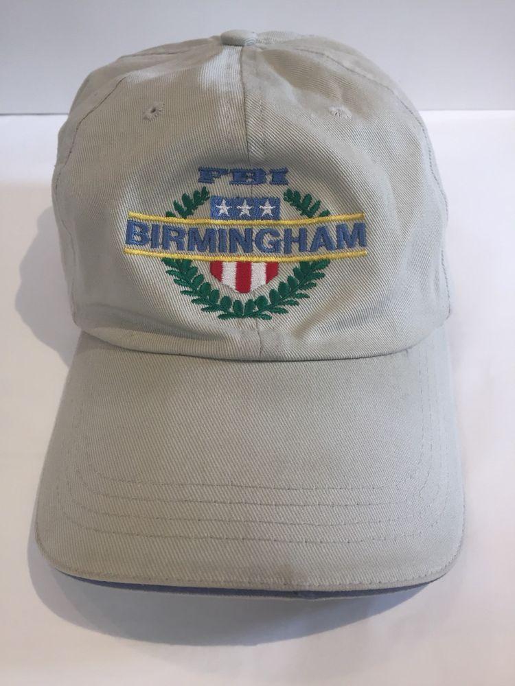 131ea3255b41b Hit Wear FBI Birmingham Embroidered Cap Adjustable Slide Buckle Baseball Hat