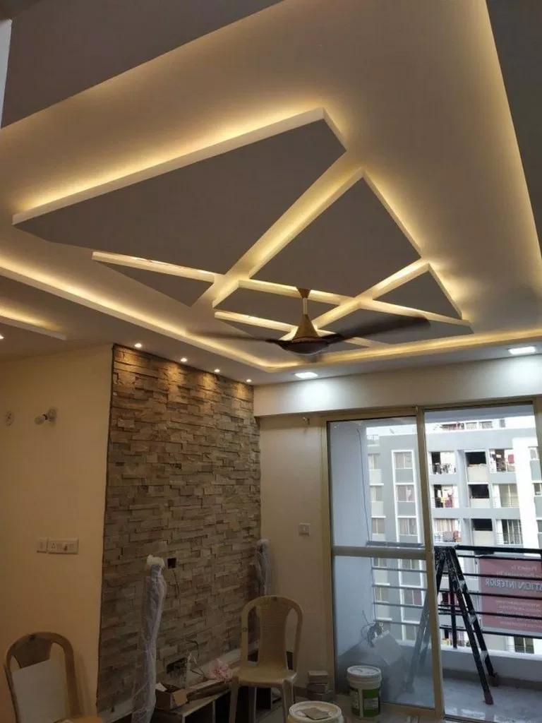 16 living room lighting ceiling simple ideas 16  Bedroom false