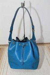 Authentic LOUIS VUITTON Blue Epi Leather Petit Noe shoulder bag handbag