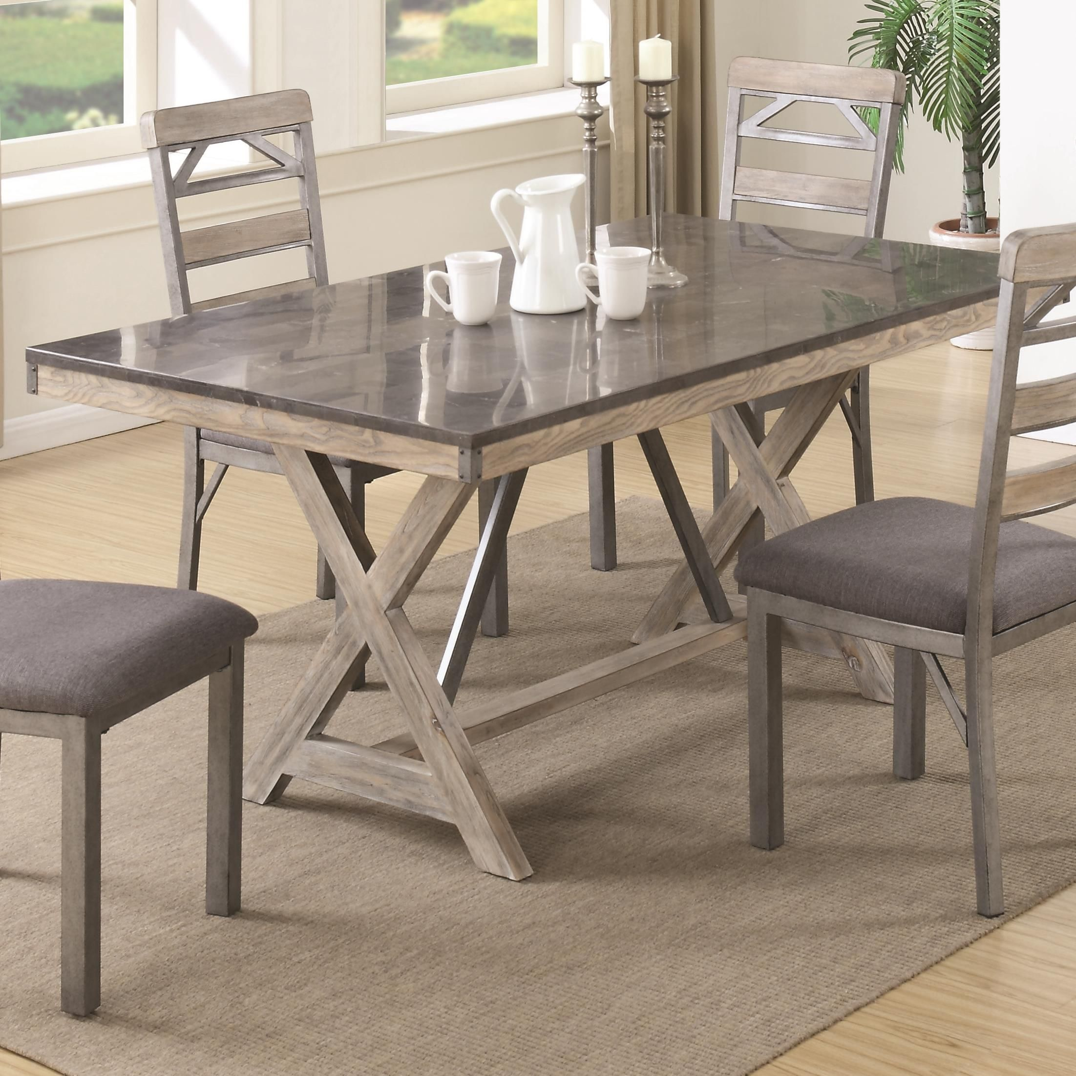 38 X 66 Edmonton Dining Table By Coaster Industrial Dining Room