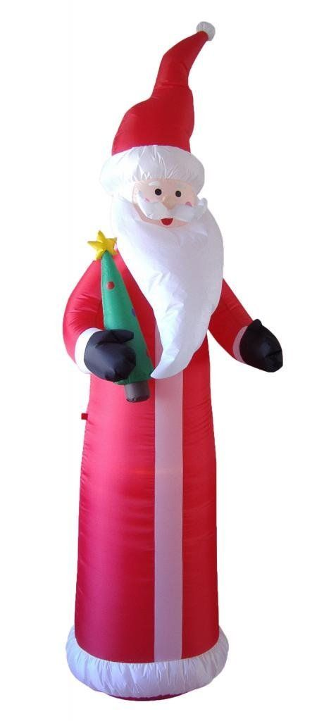 9 Foot Christmas Inflatable Santa Claus with Christmas Tree Yard - inflatable christmas yard decorations