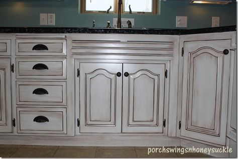 Paint and Glaze Cabinet Tutorial   house   Pinterest   Remodelacion ...