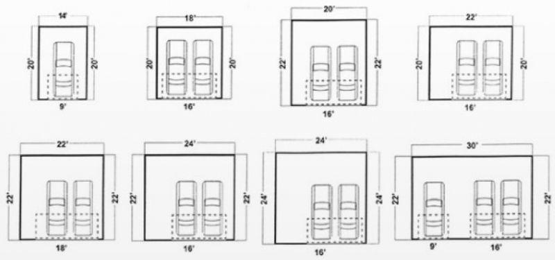 Standard Two Car Garage Door Size Standard Garage Door