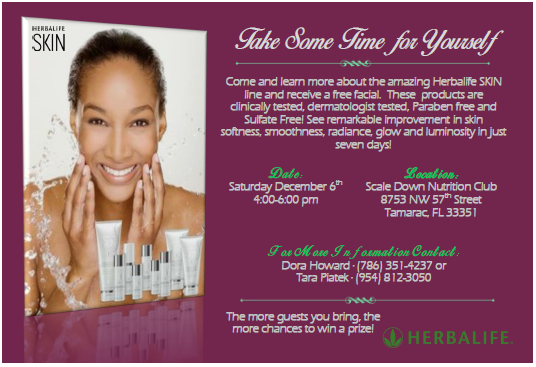 Join Us For A Free Herbalife Skin Spa Party All Attendees Will Be Eligible For Raffle Prizes And The Mor Herbalife Paraben Free Products Dermatologist Tested
