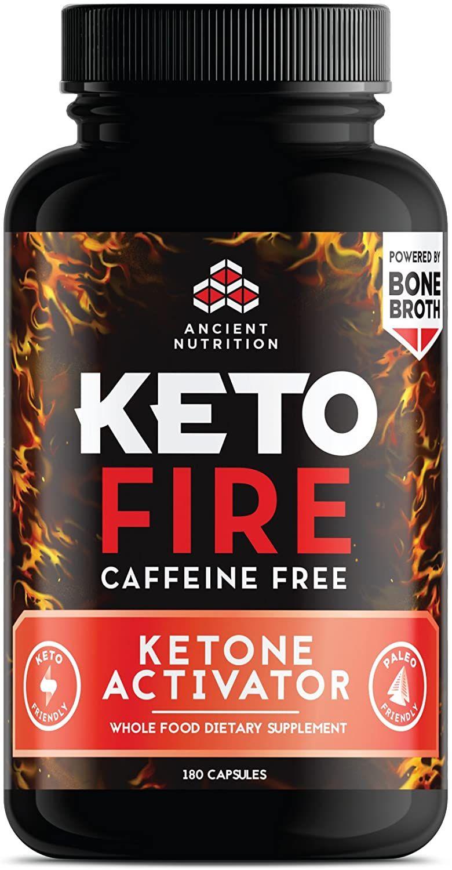 Ancient Nutrition KetoFIRE Caffeine Free Capsules, 180