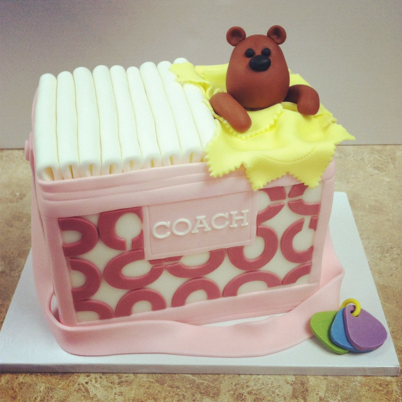 445c8ea1f078 ... Coach Diaper Bag cake.. omg I will have this at my baby shower!