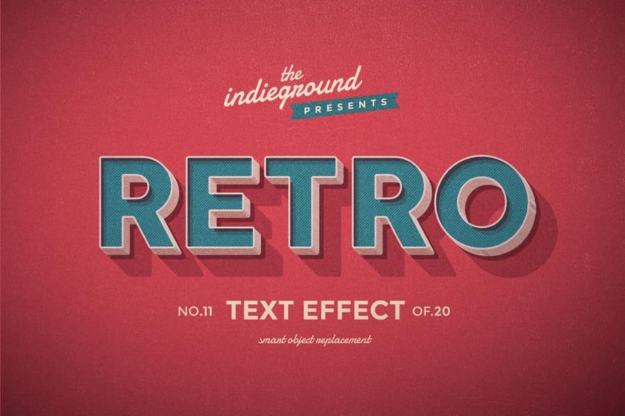 Retro Vintage Text Effect N 11 Indieground Design Retro Text Vintage Text Text Effects