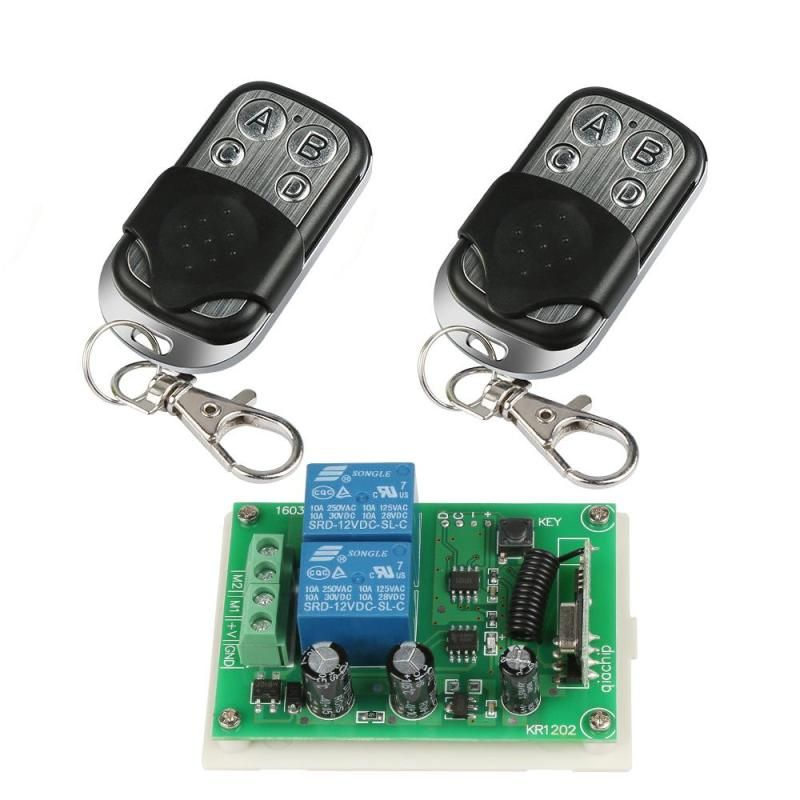 433mhz Universal Wireless Remote Control Switch Dc 12v 2ch Relay Receiver Module And 2pcs Rf Transmitter 433 Mhz R Remote Electronic Accessories Remote Control