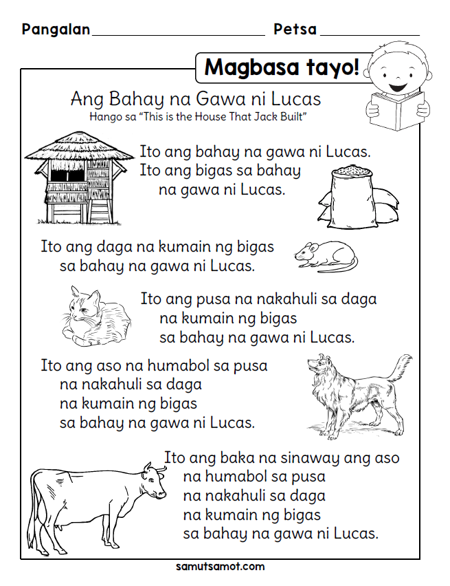 photo about 5th Grade Printable Short Stories called Filipino Worksheets Samut-samot sonia 1st quality