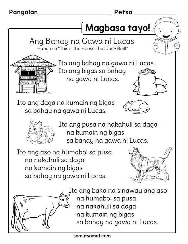 Filipino Worksheets Samutsamot Remedial reading