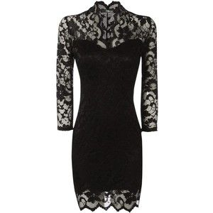 jane norman black lace dress | Lace front dress, Clothes