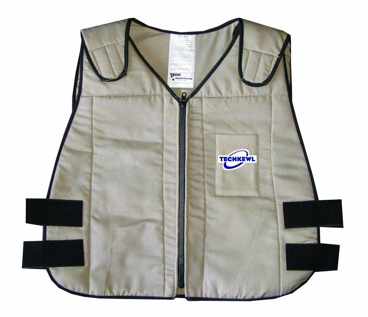 Techkewl 6626 Kh M L Phase Change Cooling Vest With Images Cooling Vest Vest Mens Outfits