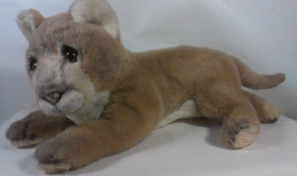 Russ Yomiko K85 Mountain Lion Lying 15 Stuffed Animal Plush Cougar