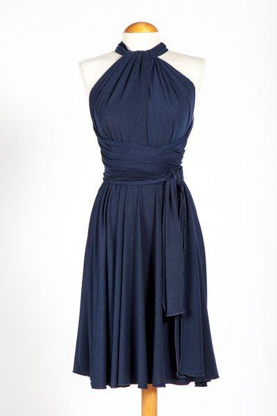Vestido+convertible+corto+azul+marino+de+MIMÈTIK/Navy ...