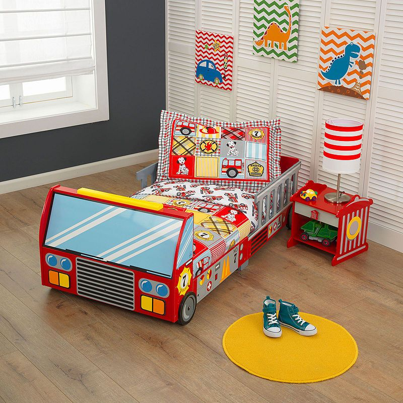 KidKraft Fire Truck Toddler Bed (With images) Truck