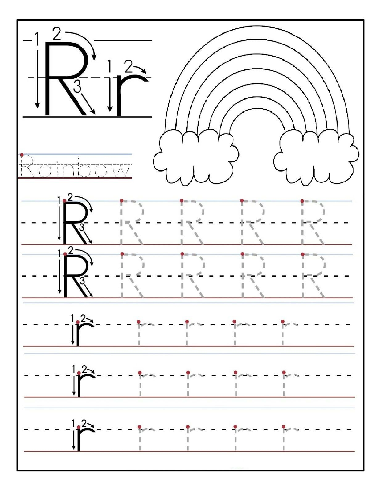 Tracing Letter R Activities For Toddlers