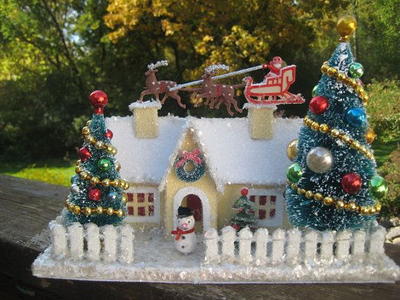 Die besten 25 weihnachtsh user ideen auf pinterest weihnachtsgarten - Stylische weihnachtsdeko ...