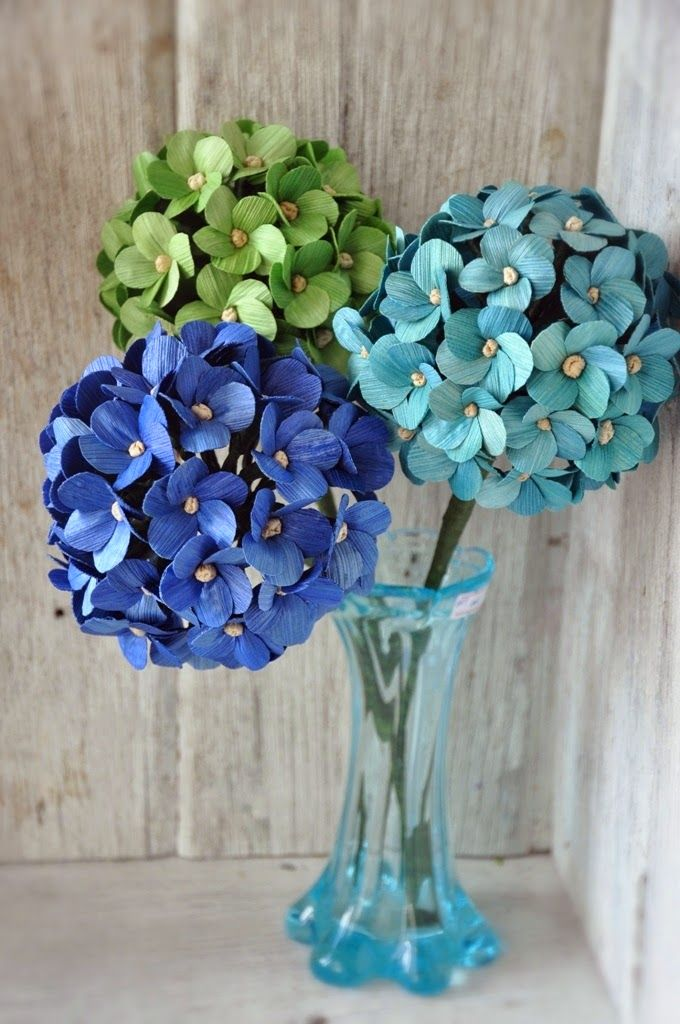 Reduce Reuse Recycle Replenish Restore Diy How To Make Hydrangea Or Million Flowers Using Dried Cor Paper Flowers Diy Egg Carton Crafts Corn Husk Crafts