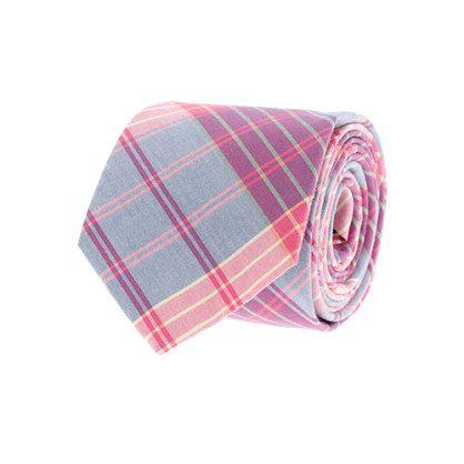 Tartan oxford cloth tie in Vintage Barn at J. Crew