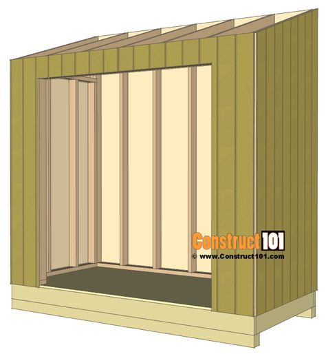 Do It Yourself Home Design: Lean To Shed Plans - 4x8 - Step-By-Step Plans