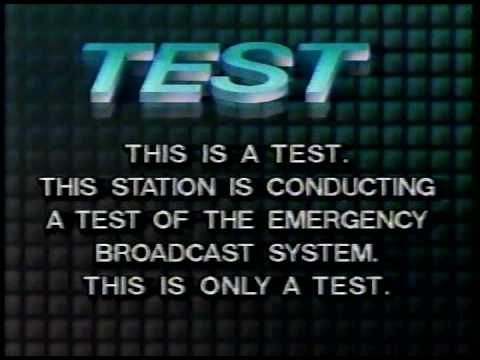 Emergency Broadcast System Test 1993 Youtube Broadcast Emergency System