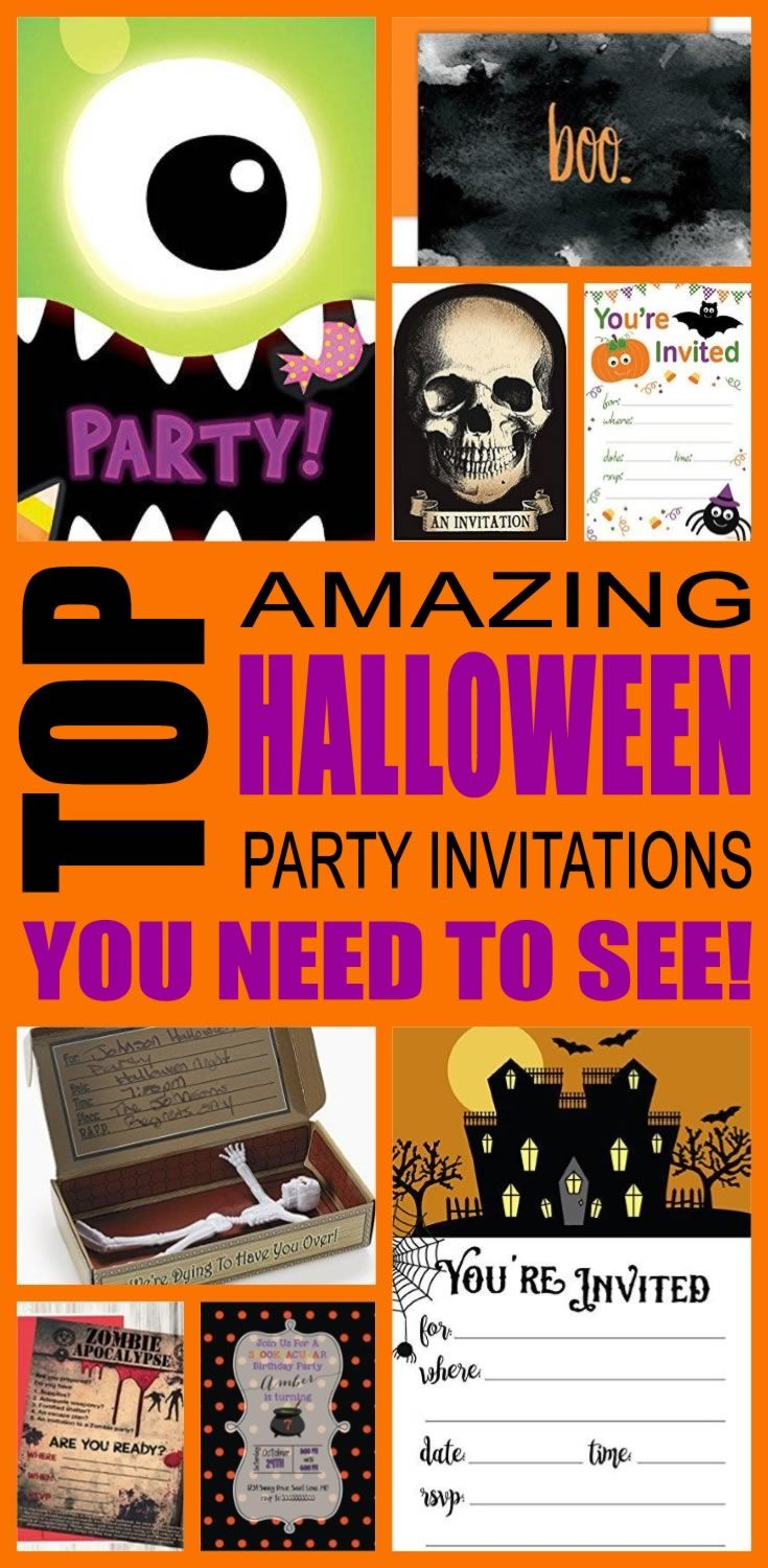 best halloween party invitation ideas