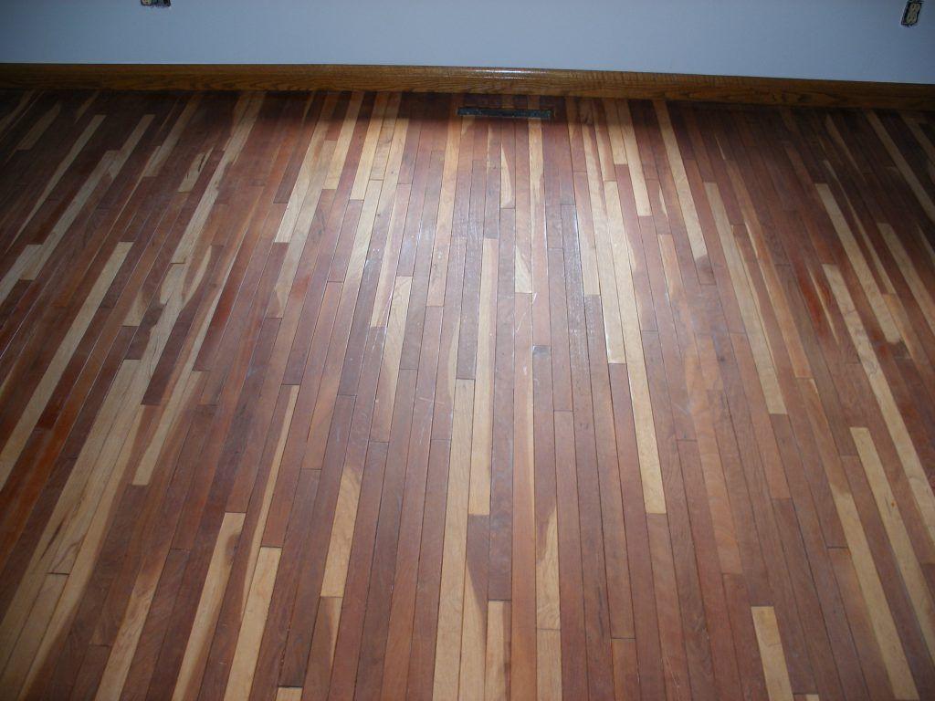Sanding Hardwood Floors Against The