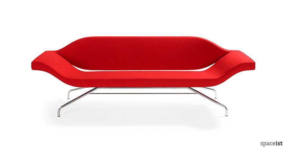 Futuristic sofa design in bold red. | Retro sofa, Sofa ...
