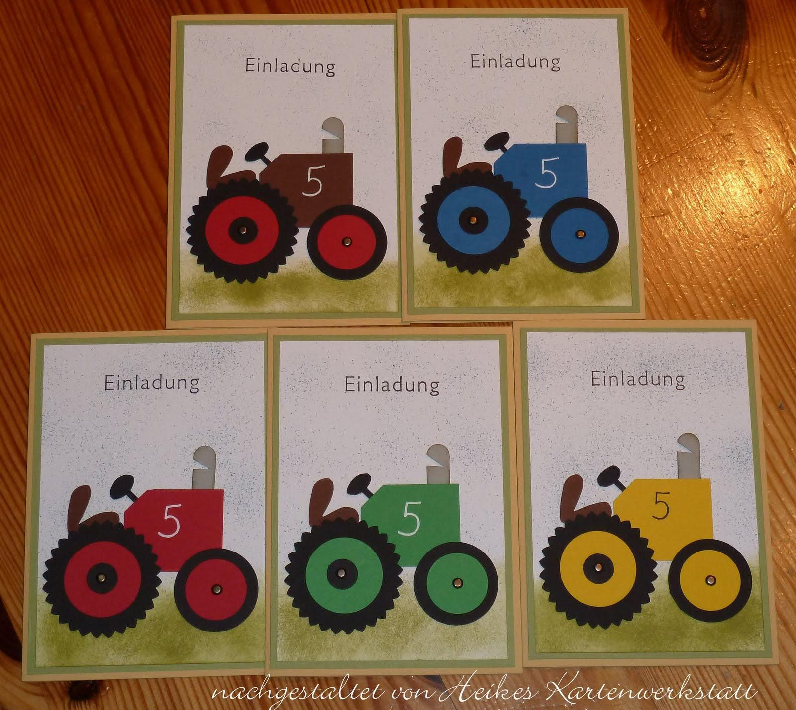 Einladungskarten Kindergeburtstag Basteln Auto
