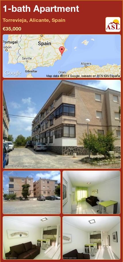 1-bath Apartment in Torrevieja, Alicante, Spain ►€35,000 #PropertyForSaleInSpain