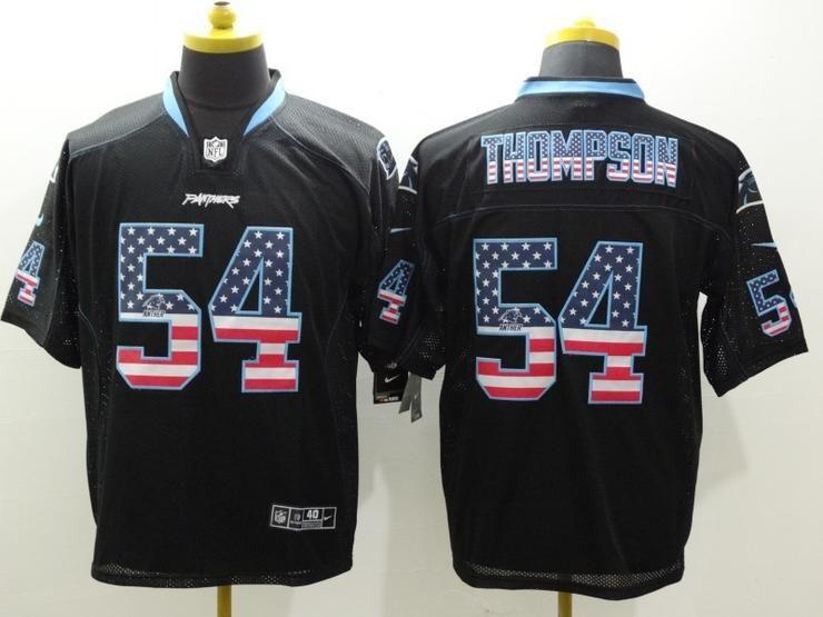Discount Men 54 Shaq Thompson Jersey Football Carolina Panthers Jersey