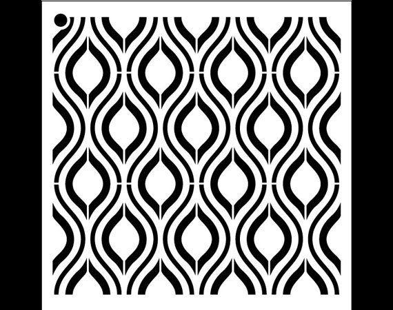 Ogee Pattern Stencil  Select Size  STCL1024 by por StudioR12
