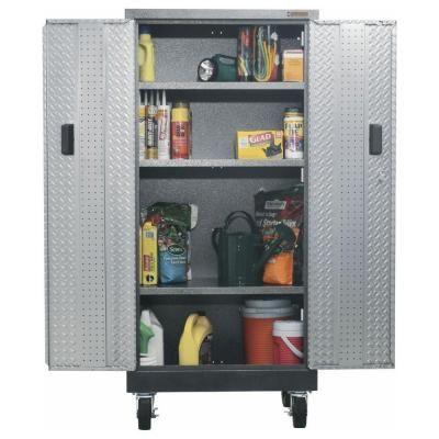 Gladiator Premier Series 30 In. Steel Freestanding Roll Away GearBox Cabinet  In Hammered Granite
