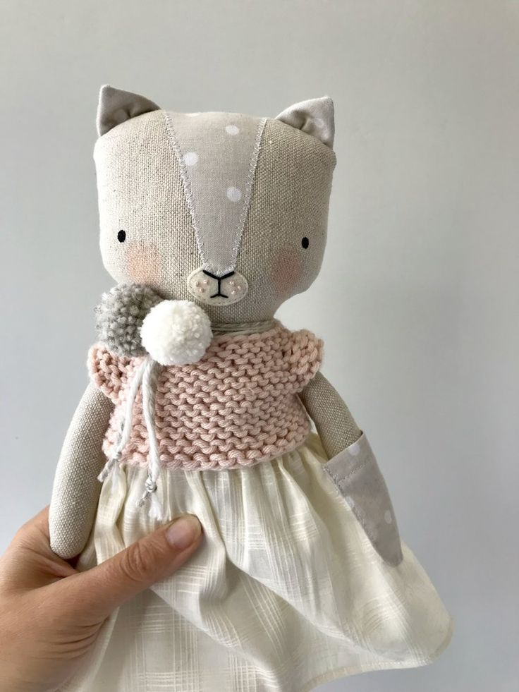 Handmade cat doll with outfir