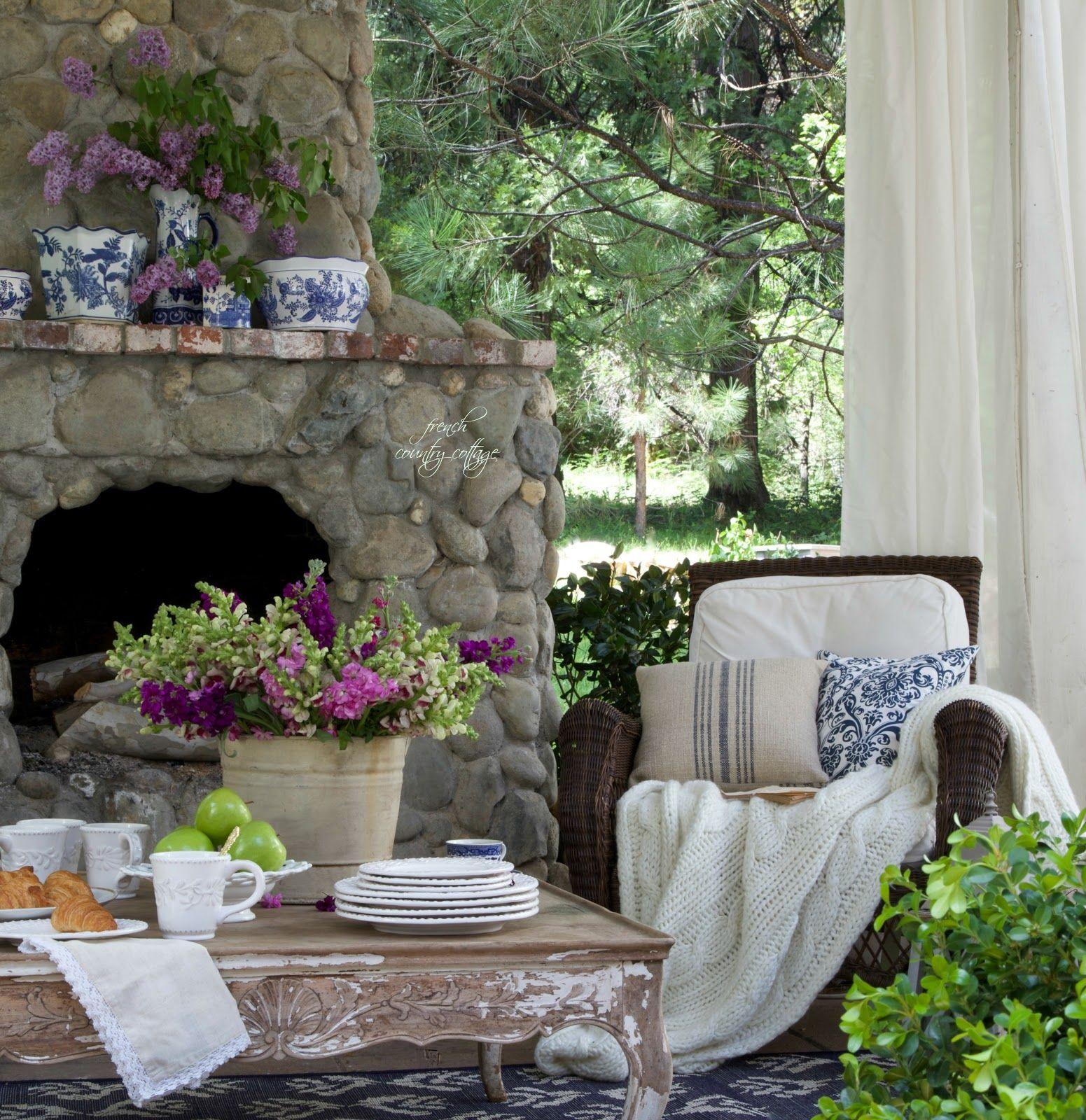 Summer Garden Party Event   Garden   Pinterest   Cottage patio     French Country Cottage  patio  Outdoor living