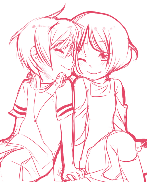 Anime Couple Coloring Pages Coloring Page Free