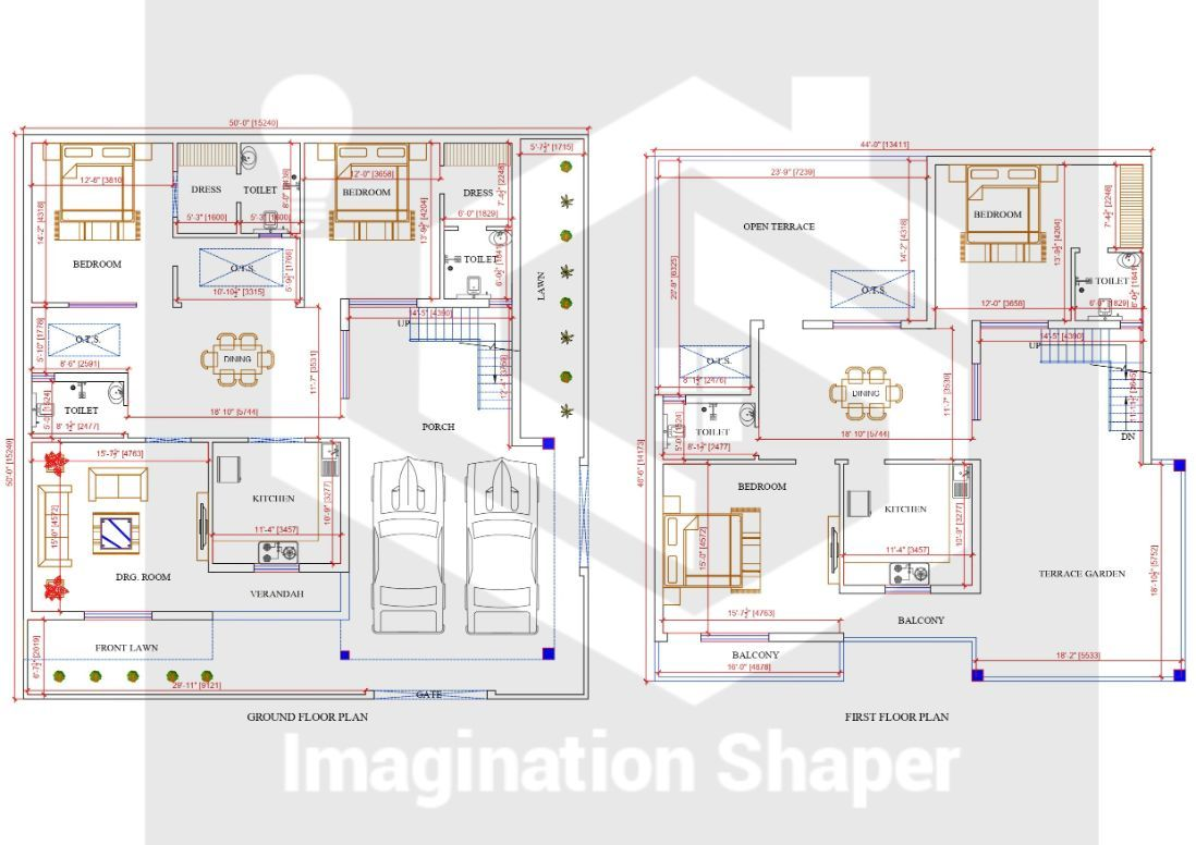 50x50 Home Plans In 2020 Home Design Plans Small House Blueprints House Map