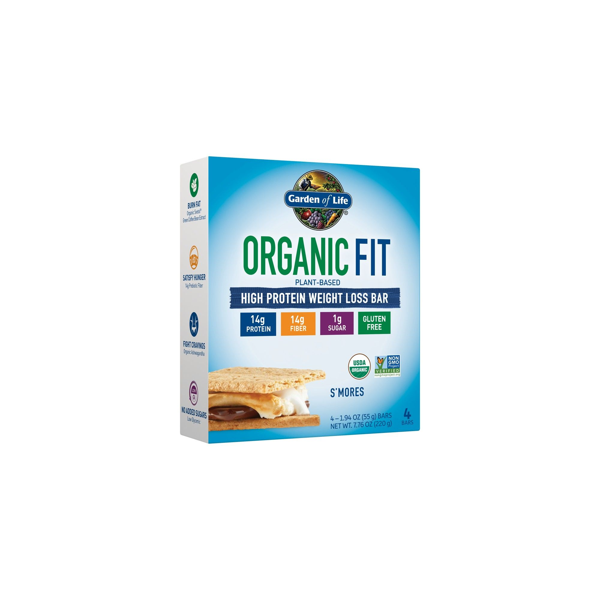 Garden of Life Organic Fit Protein Bar S'mores 4pk in