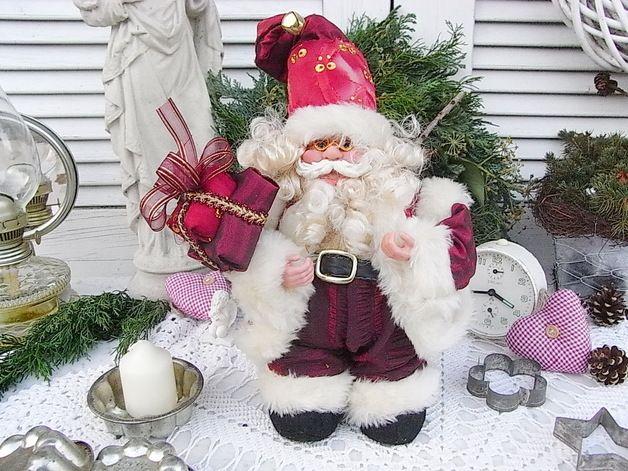 Nikolaus & Weihnachtsmann - vintage Spieluhr Weihnachtsmann Nostalgie shabby - ein Designerstück von artdecoundso bei DaWanda