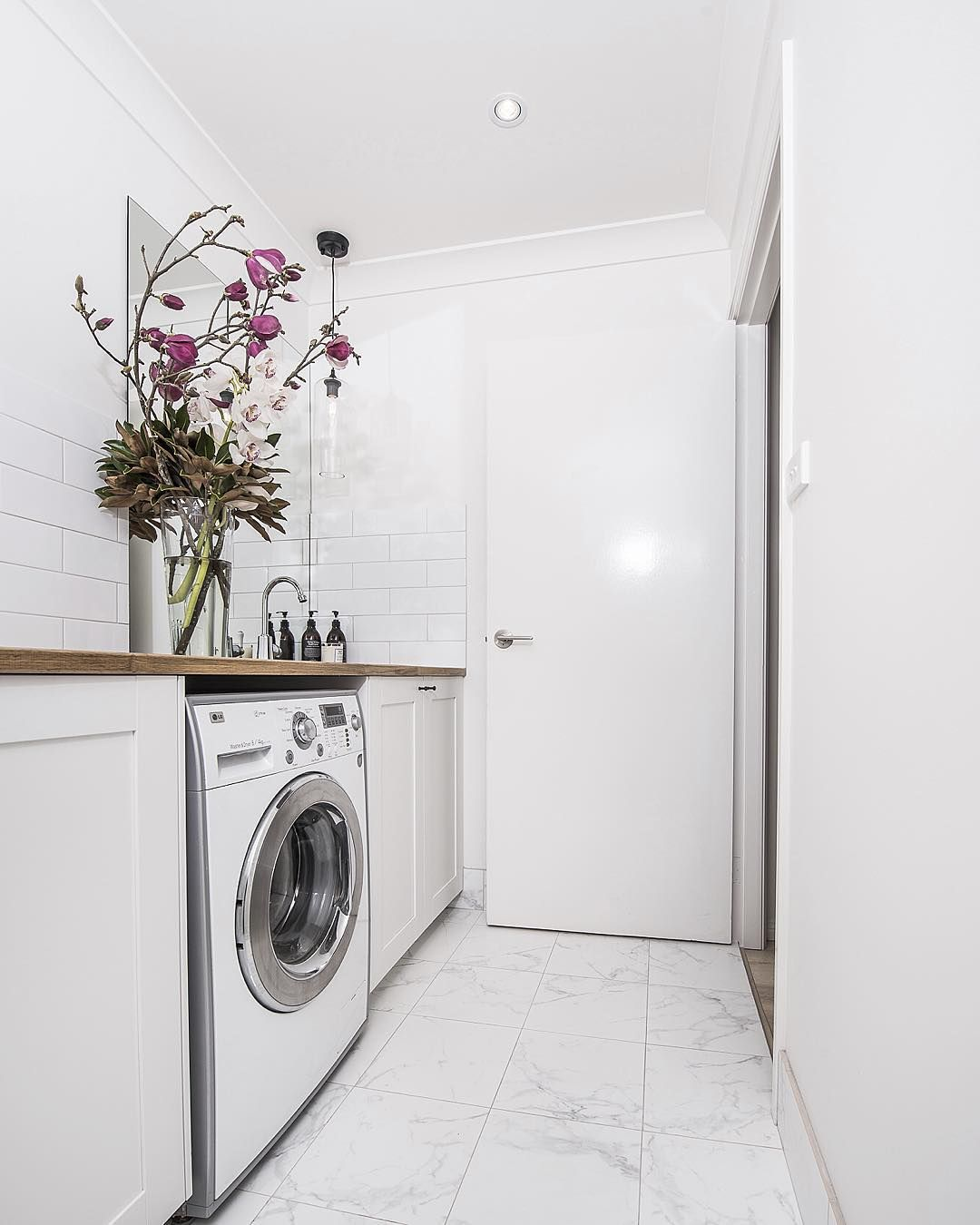 Bunnings Bathroom Vanity Downstairs Powder Room Laundry In This House We Used The Same