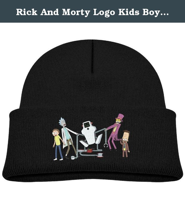 Rick And Morty Logo Kids Boys Girls Knit Beanie Cap Skull Hat Black By OSTWEAR. Rick And Morty Logo Kids Youth Child Boys Girls Spring /Autumn/ Winter Knit Beanie Cap Skull Hat One Size Fit Most By OSTWEAR.