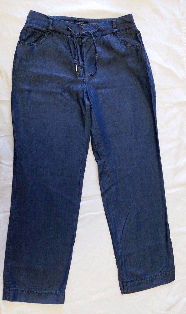 0d4308ac Charter Club Pants Womens Petite sz 2 Classic Fit Tencel Light jeans Blue  2P #CharterClub #CasualPants