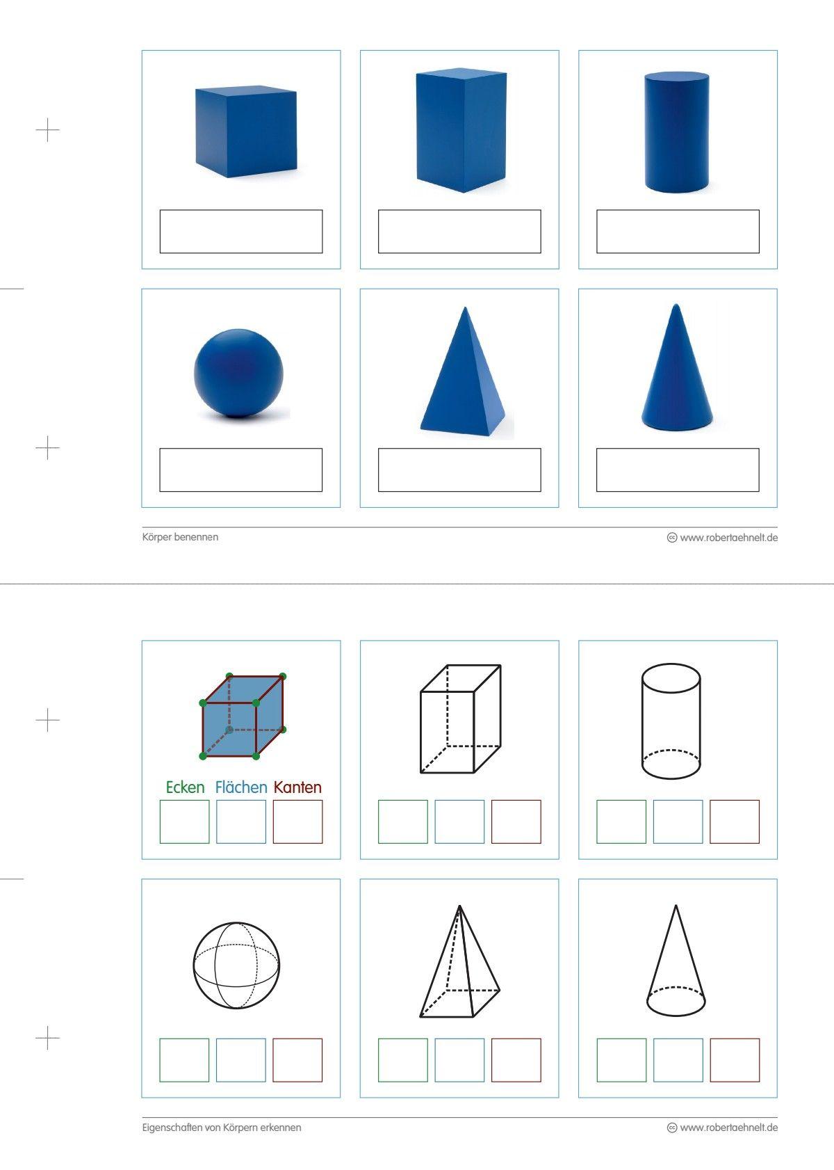 Geometrie Arbeitsblatt A5 Lang