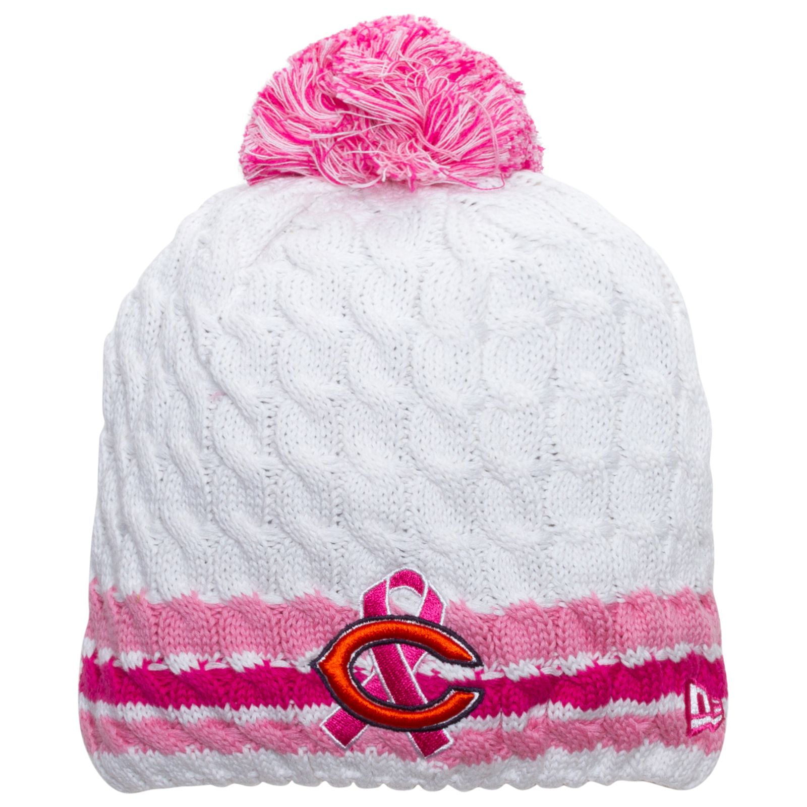 22675c0b697 Chicago Bears White and Pink 2013 Breast Cancer Awareness Knit Hat by New  Era  Chicago  Bears  ChicagoBears